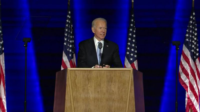President-elect Joe Biden says if Americans wear masks for 100 days it will make a major...