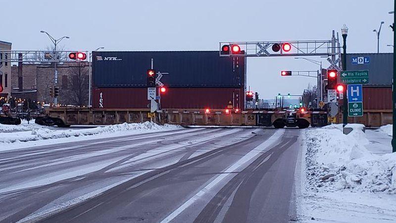 Train stopped in Marshfield