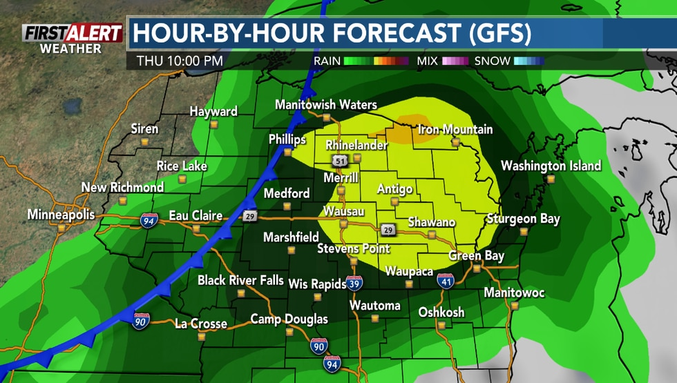 Some wet weather is anticipated Thursday afternoon into Thursday night.
