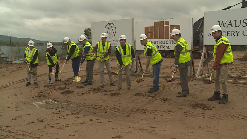 A groundbreaking ceremony was held for the new Orthopaedic Associates of Wausau and Wausau...