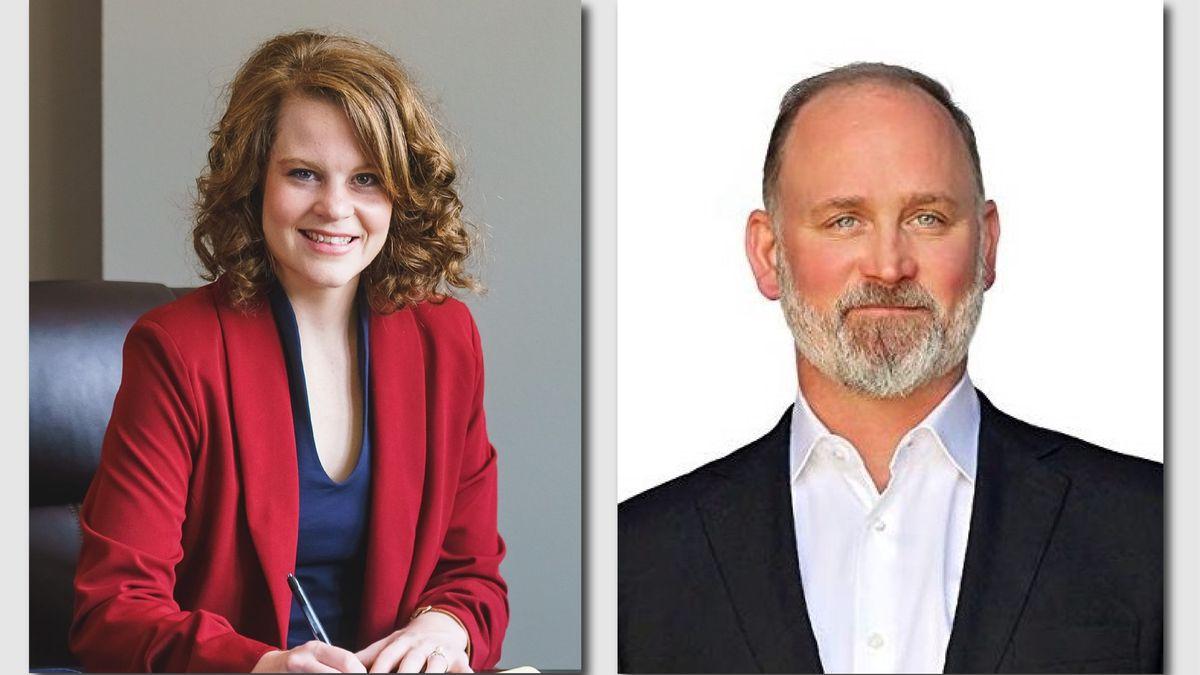 Republican candidates in WI-03 primary race, Jessi Ebben (Left) and Derrick Van Orden (Right)