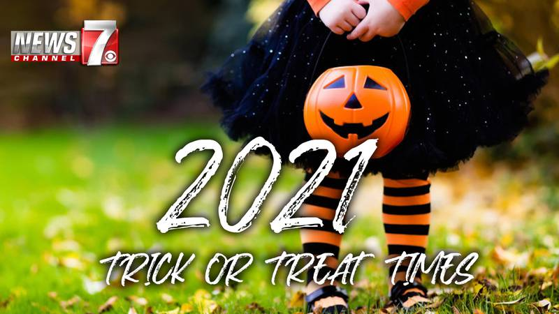 Halloween trick or treat times for 2021