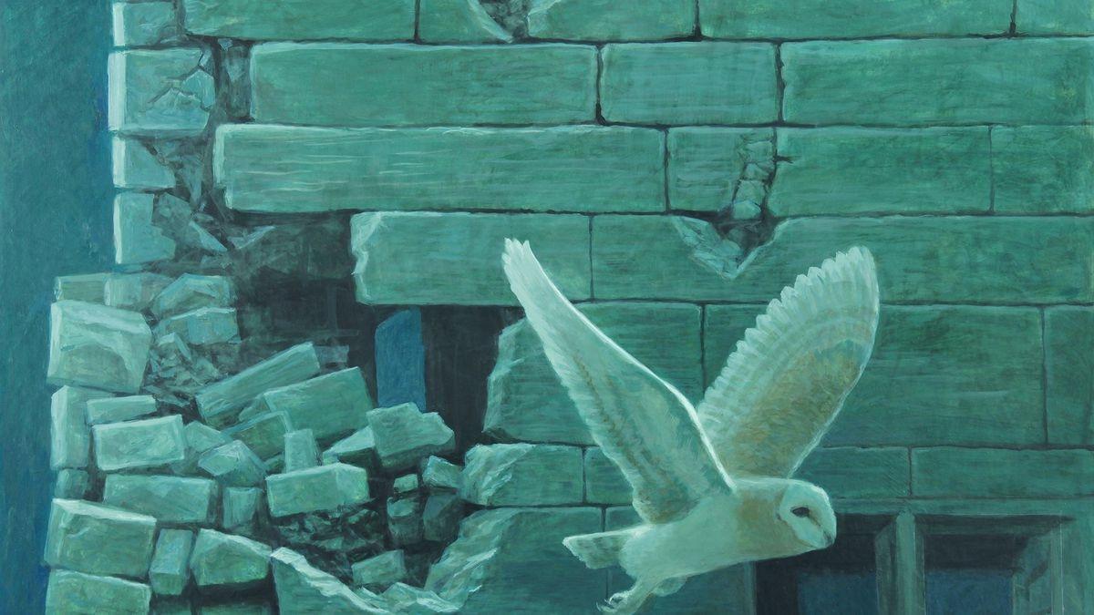 Robert Bateman, Barn Owl at Biddulph Hall, 2020, acrylic on hardboard