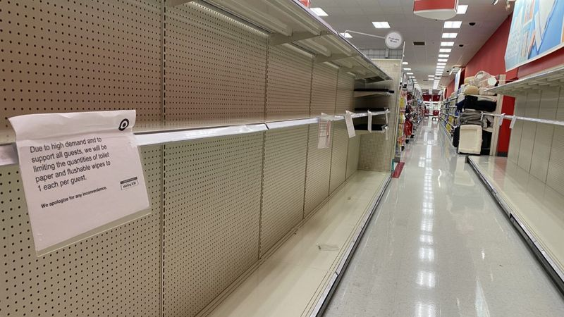 Stores across the country are beginning to see empty shelves as COVID-19 cases surge, and...