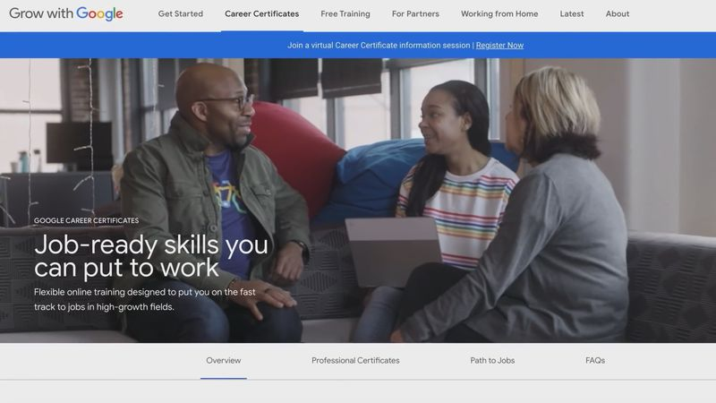 Grow with Google gives job seekers tools to get a career in a high-demand field