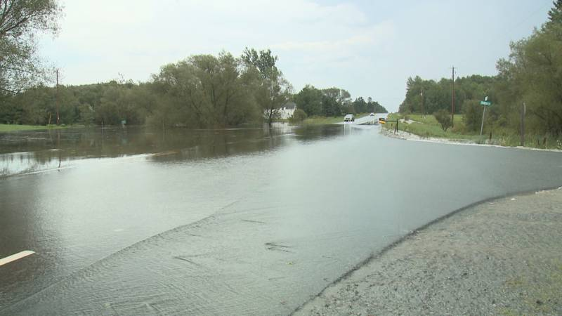Flooding in Mosinee Wednesday afternoon