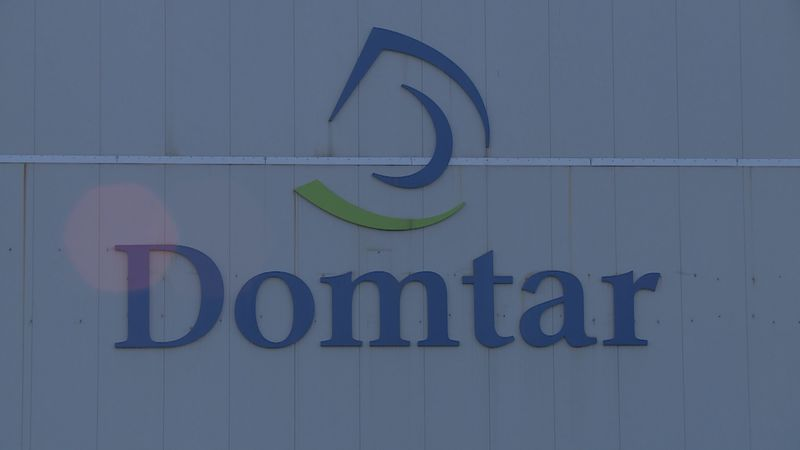 The Domtar mill in Rothschild, Wisconsin, on April 27, 2020. (WSAW)