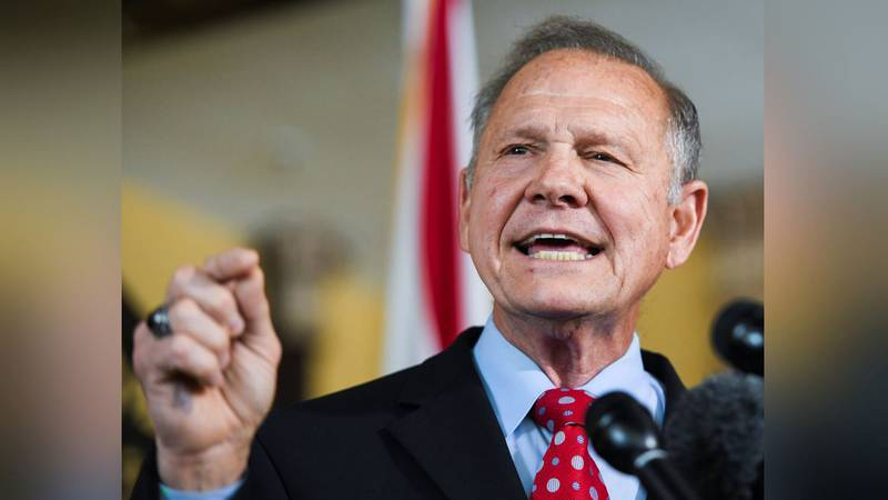 FILE - Former Alabama Chief Justice Roy Moore announces his run for the Republican nomination...