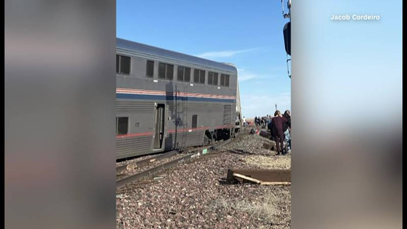 An Amtrak train that runs between Seattle and Chicago derailed Saturday afternoon in...