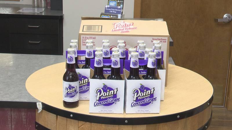 Packs of Concord Grape Premium soda