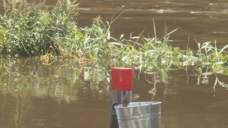 Riverside Park in Pittsville is underwater.