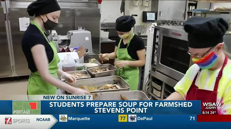 Students Prepare Soup For Farmshed