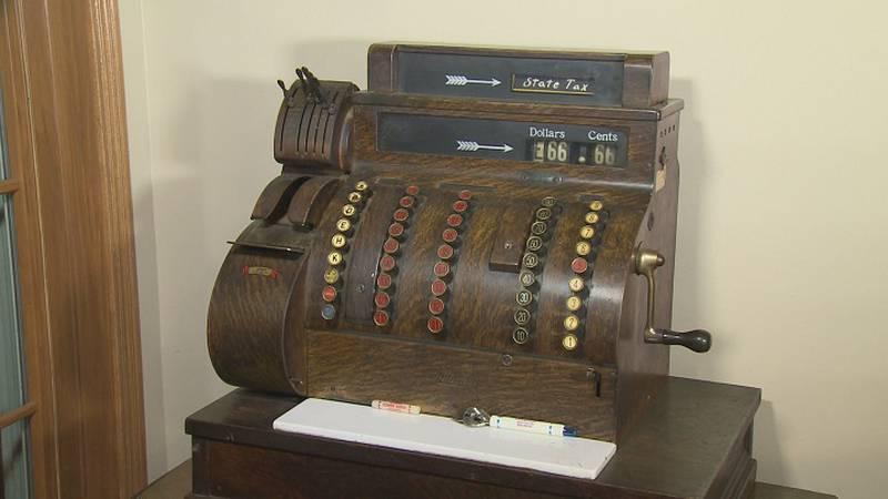 Hetzer's cash register returned to the family.