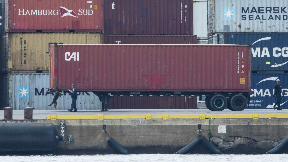 U.S. authorities seized more than $1 billion worth of cocaine from a ship at a Philadelphia port, calling it one of the largest drug busts in American history. The U.S. attorney's office in Philadelphia announced the massive bust on Twitter on Tuesday afternoon. (AP Photo/Matt Rourke)