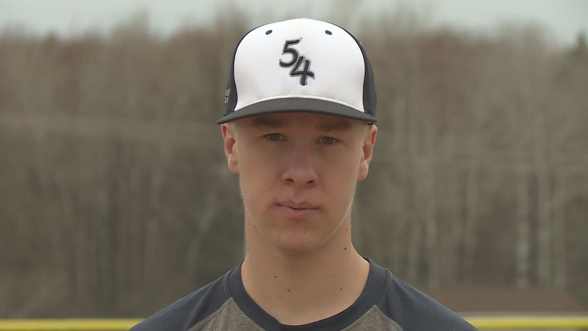 Stratford senior Chandler Schmidt in Stratford, Wisconsin, on May 1, 2020. (WSAW)