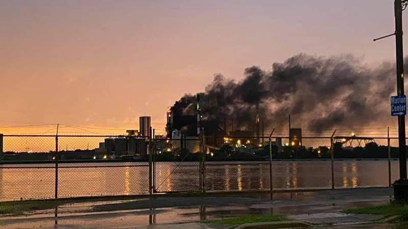 Verso Paper Mill fire courtesy: Shane Allen