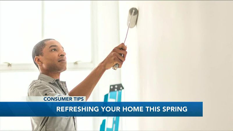 Sprucing up areas of your home while spring cleaning