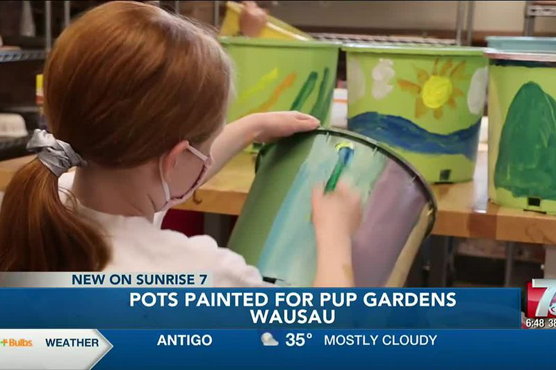 Pots Painted For Pup Gardens