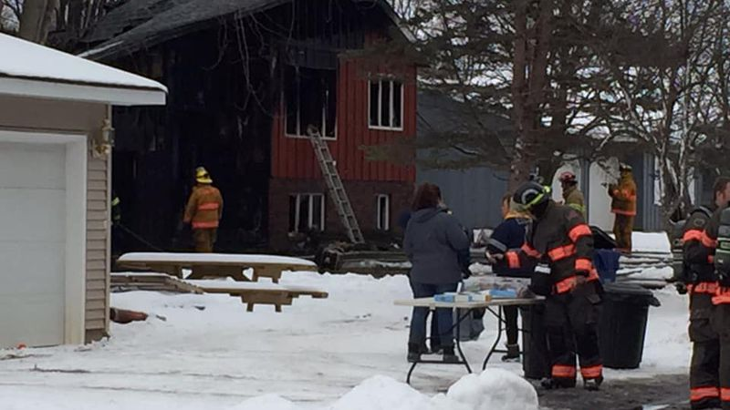 Crews respond to fire at 700 block of West Street in Edgar on Feb. 1, 2021