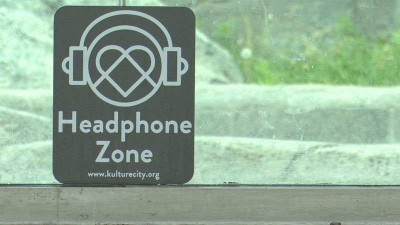 """The Zoo has multiple """"headphone zones"""" around the park, signaling a safe place to put on noise..."""