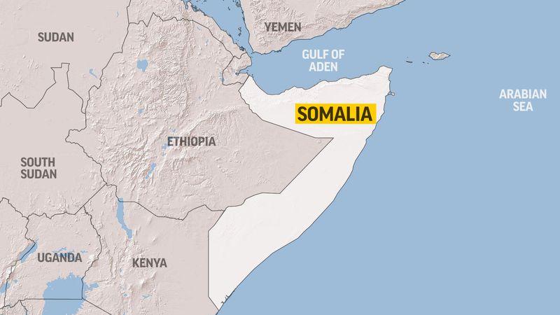 This map shows Somalia.