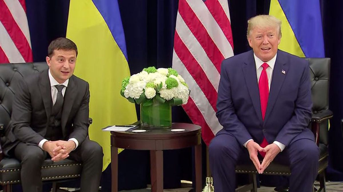 Ukrainian President Volodymyr Zelenskiy said he only learned after his July 25 phone call with President Donald Trump that the U.S. had blocked hundreds of millions of dollars in military aid to Ukraine. (Source: CNN/POOL)