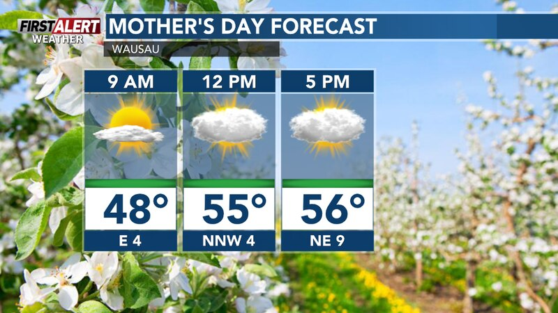 Sun along with clouds today and cool. Perhaps a PM shower.