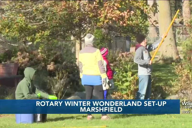 Preparations underway for Rotary Winter Wonderland in Marshfield