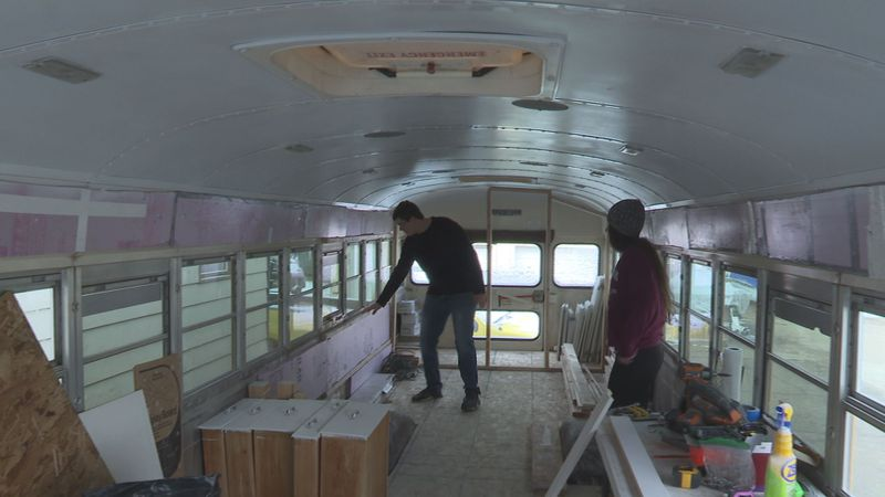 Wausau couple plans to transform school bus into mobile home