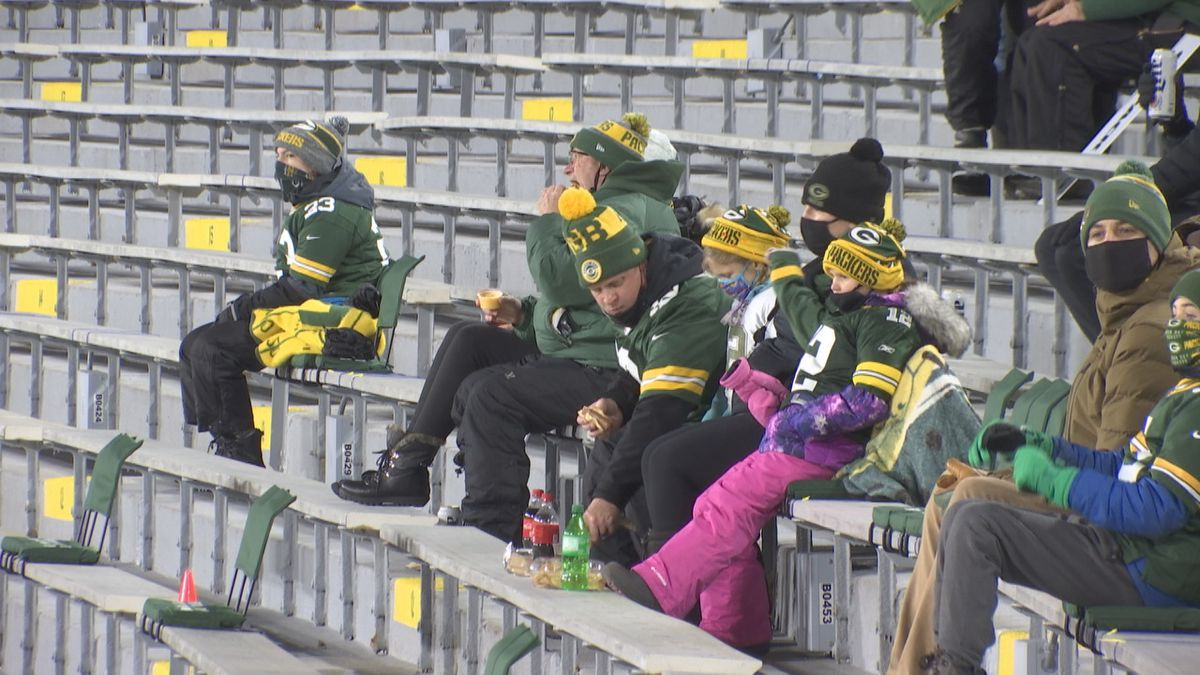 Packer employees and their families were allowed inside Lambeau Field on Sunday night versus...