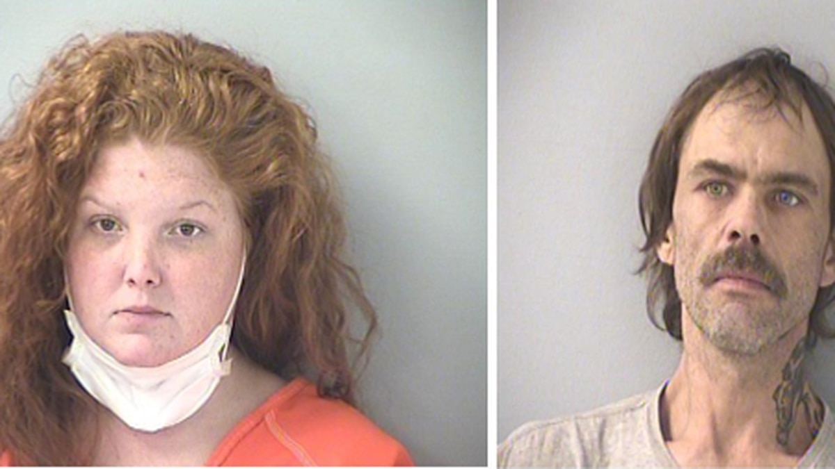 Brittany Gosney, 26, and her boyfriend, 42-year-old James Hamilton are both facing charged...