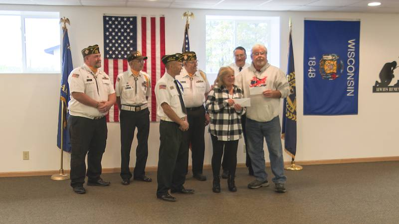$36,000 check presented to Honor Flight on Oct. 6, 2021