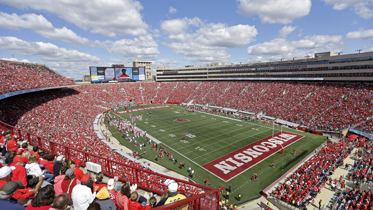 Camp Randall Stadium is seen during an NCAA college football game between Wisconsin and Miami...