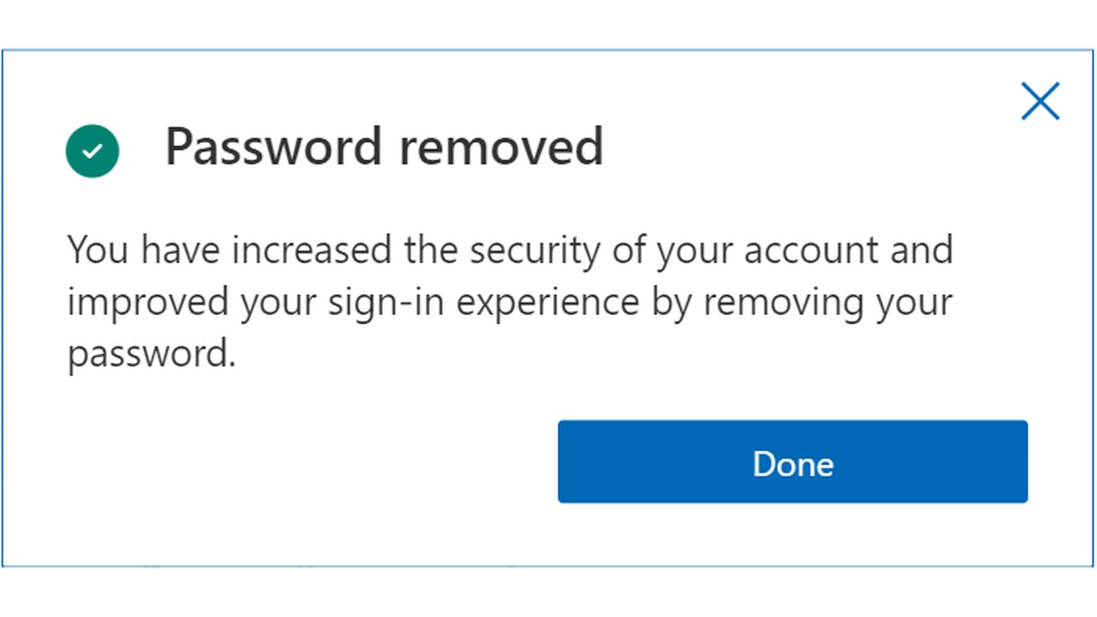 Microsoft announced users can eliminate password logins for its services.