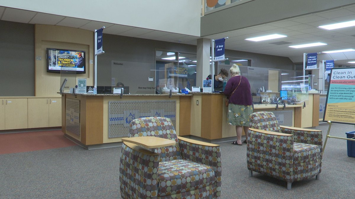 The library at Northcentral Technical College
