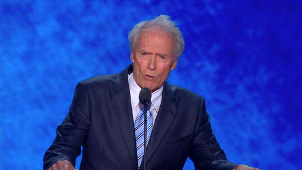 Actor and director Clint Eastwood expressed support for Michael Bloomberg and criticized President Donald Trump's behavior in an interview with The Wall Street Journal. (Source: CNN/Pool)
