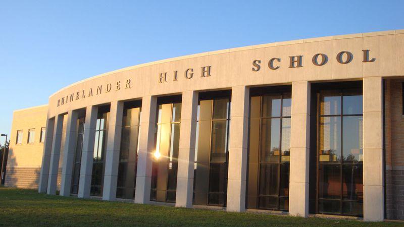 Rhinelander High School. Photo District of Rhinelander website