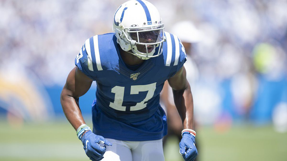 Indianapolis Colts wide receiver Devin Funchess during an NFL football game against the Los...