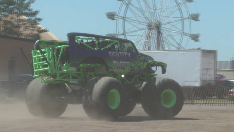 Monster trucks are just one event that drew in a large crowd on the last day of the 136th...