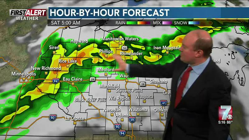 Storms are expected late tonight into Saturday morning. Following the storms, hot and humid on...