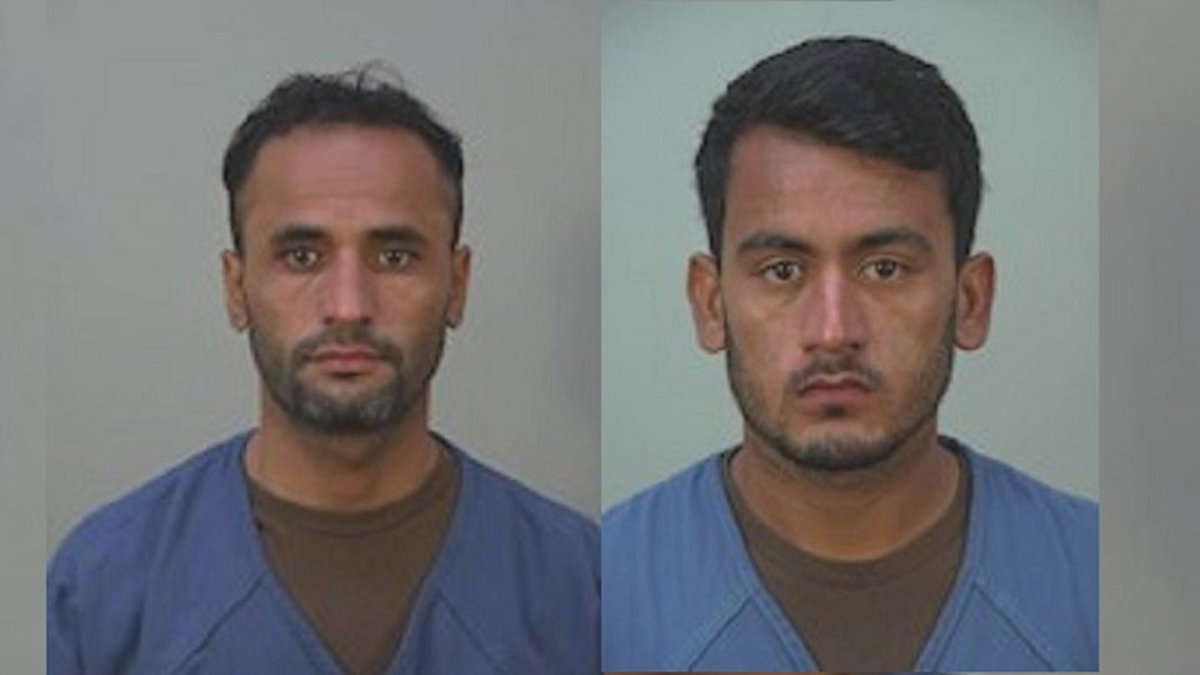 Afghan refugees, Mohammad Haroon Imaad (left) and Bahrullah Noori, are facing federal charges.