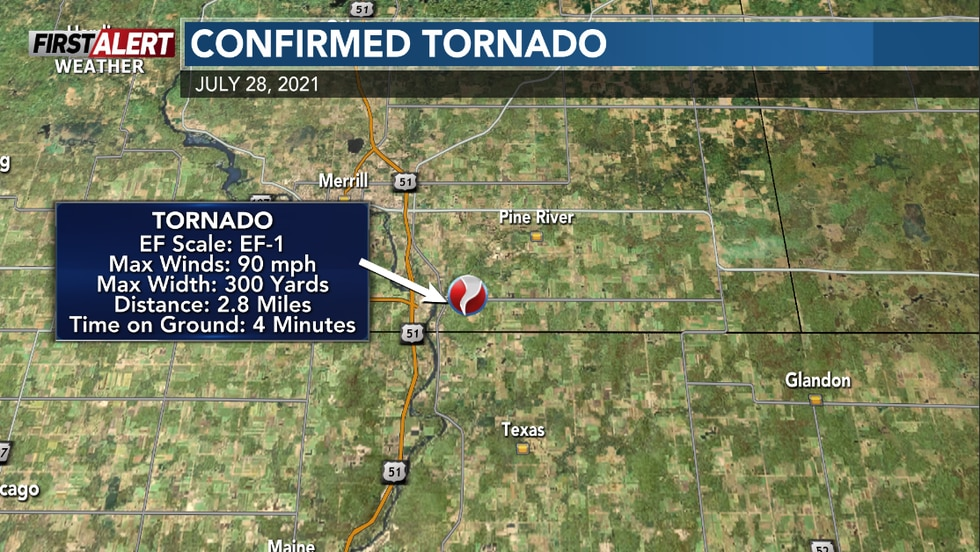 An EF-1 tornado impacted parts of Lincoln and Marathon County on July 28th.