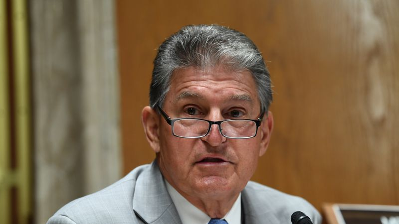 Sen. Joe Manchin, D- W.Va., speaks during a Senate Appropriations Subcommittee hearing on...