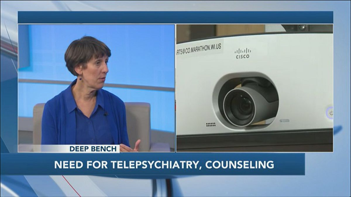 Lee Shipway of Peaceful Solutions Counseling talks about the need for telepsychiatry (WSAW photo)