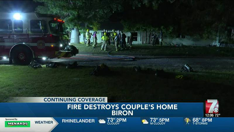 Crews investigating cause of fire that destroyed home in Biron