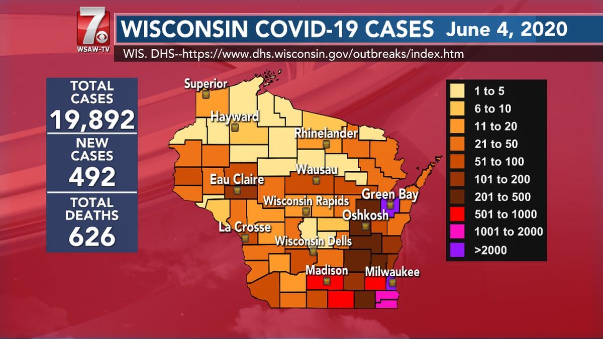 COVID-19 in Wisconsin June 4, 2020