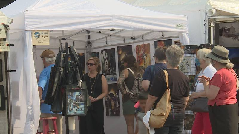 Festival of the Arts in Downtown Wausau, WI.