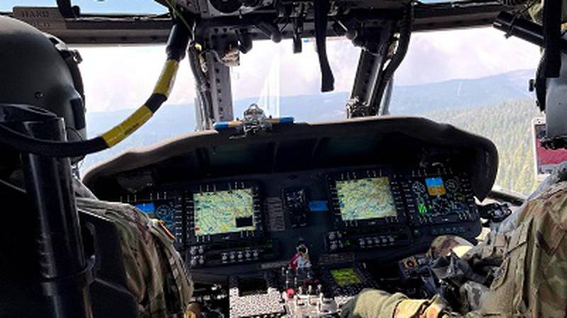 Wisconsin Army National Guard UH-60 Black Hawk crews from the Madison, Wis.-based 1st...