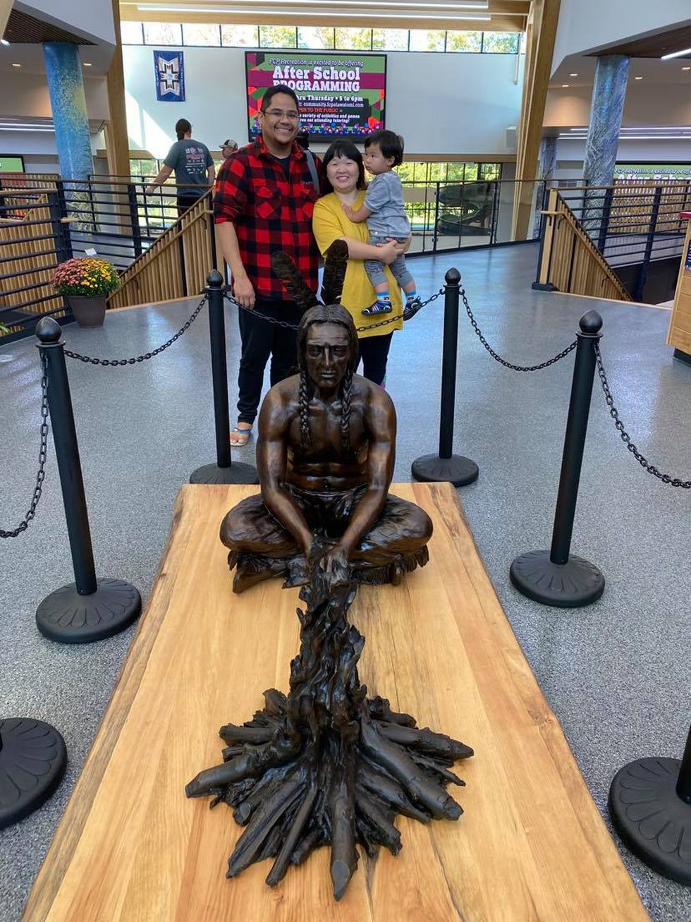 The Metoxen family enjoys seeing all that the Forest County Potawatomi Community Center has to...