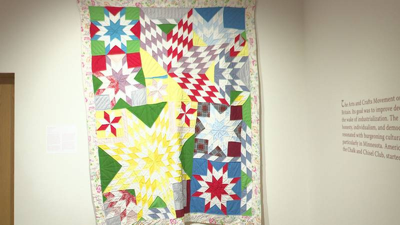 This quilt includes stars that represent how enslaved people navigated the underground railroad